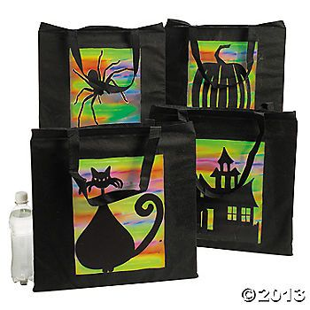 Spooky Silhouette Tote Bags