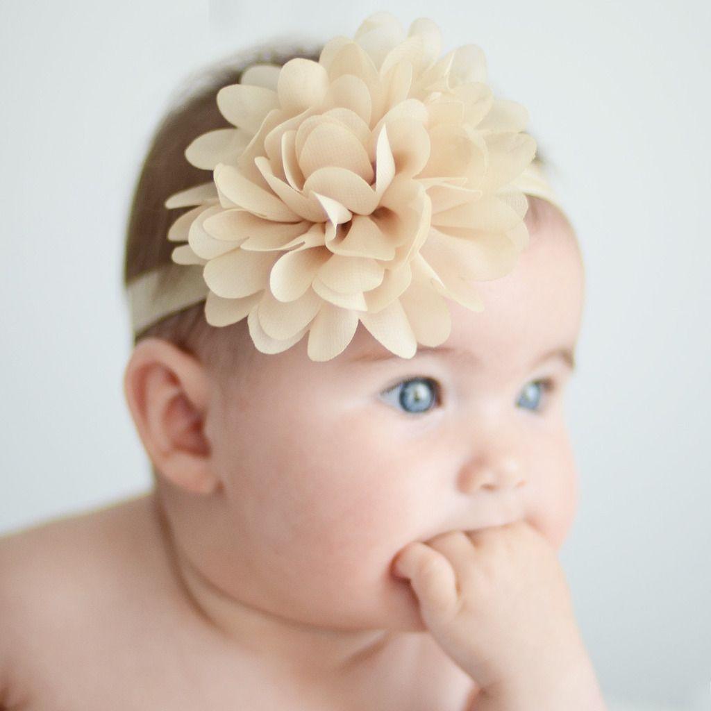Sesin de fotos Bautizo Diadema beige bebe Diademas para bebes