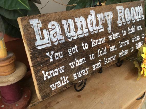 Laundry room decor laundry room sign Western home decor Etsy