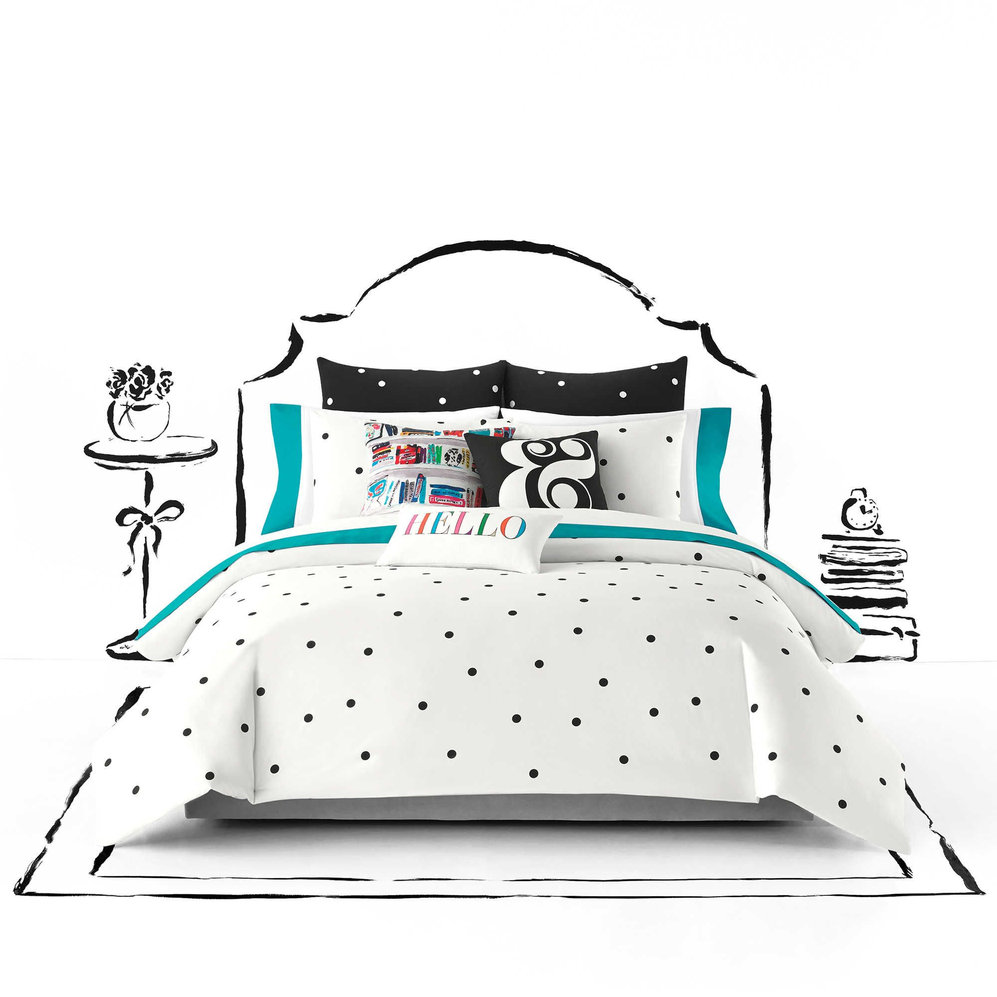Kate Spade New York Deco Dot Twin Twin Xl Comforter Set In White