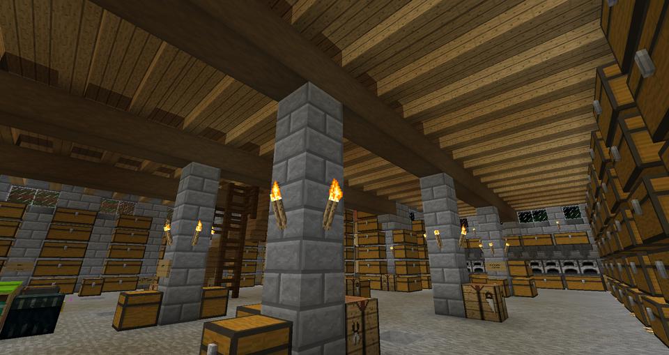 Basement sub floor and beams. Steps, slab, stripped wood