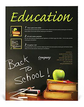 back to school flyer template education back to school pinterest