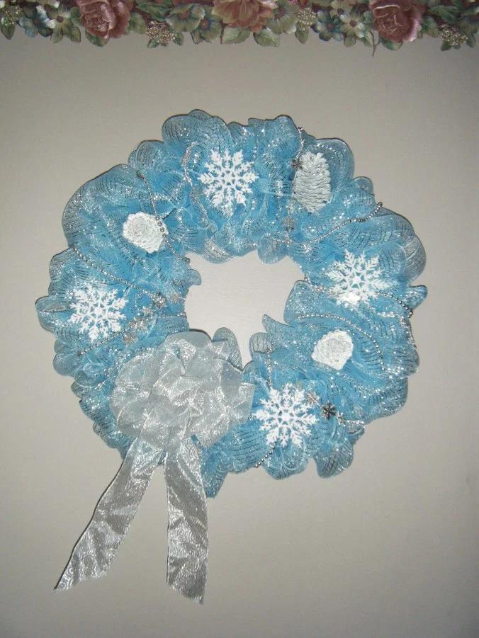 Winter Wonderland Deco Mesh Wreath #decomeshwreaths