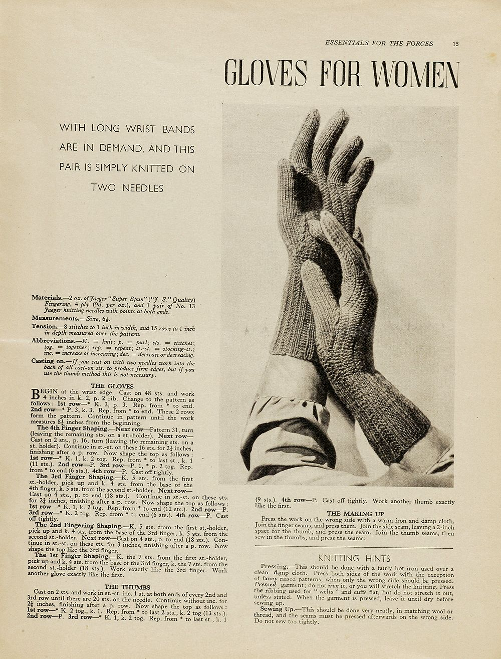 1940s patterns to knit va gloves for women knitting free 1940s patterns to knit va gloves for women bankloansurffo Images
