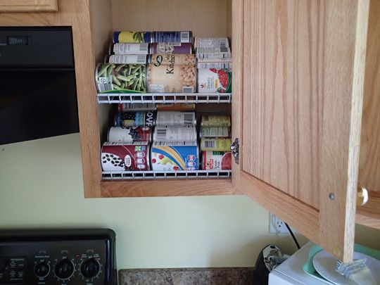 Diy Kitchen Cabinet Organization Rotation Shelves