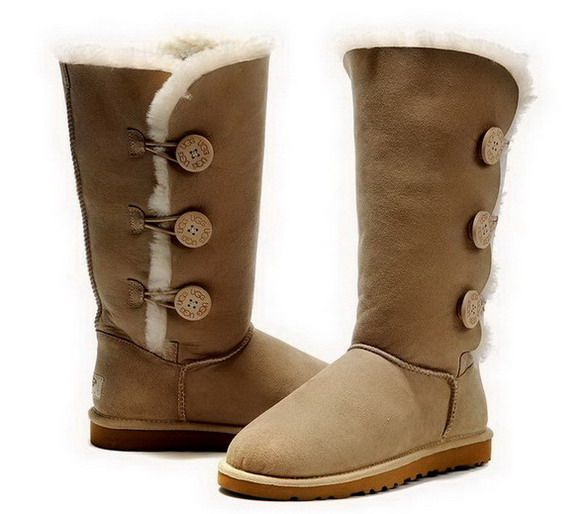 Ugg Bailey Button Triplet Tall Boots 1873 Sand UK $119.22