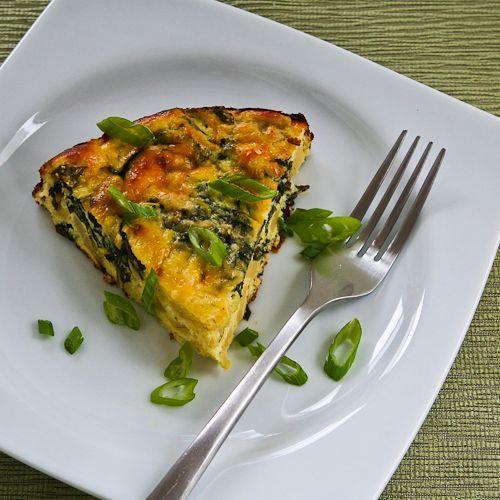 artichoke, Kale, & Ricotta Pie with Eggs & Parmesan