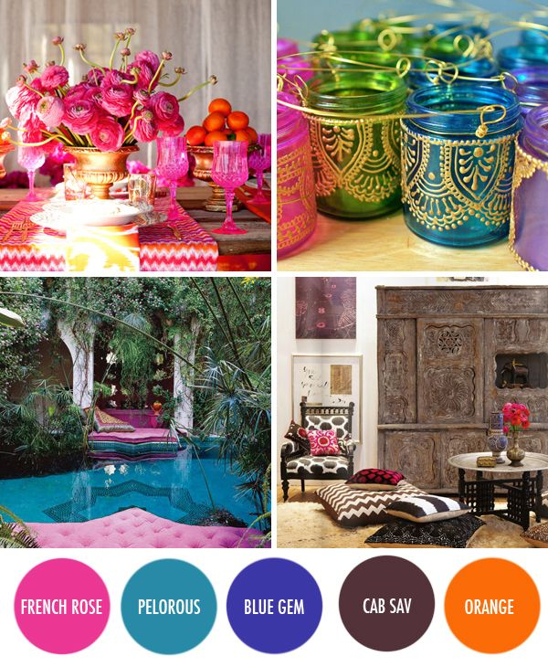 Moroccan Living Rooms Ideas Photos Decor And Inspirations: Moroccan Color Inspiration