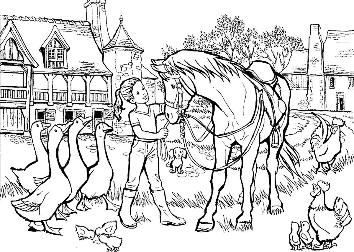 You Will Find In This Gallery Easy Kids Coloring Pages With Different Animals Enjoyed By Children Cats Dogs Bears Birds