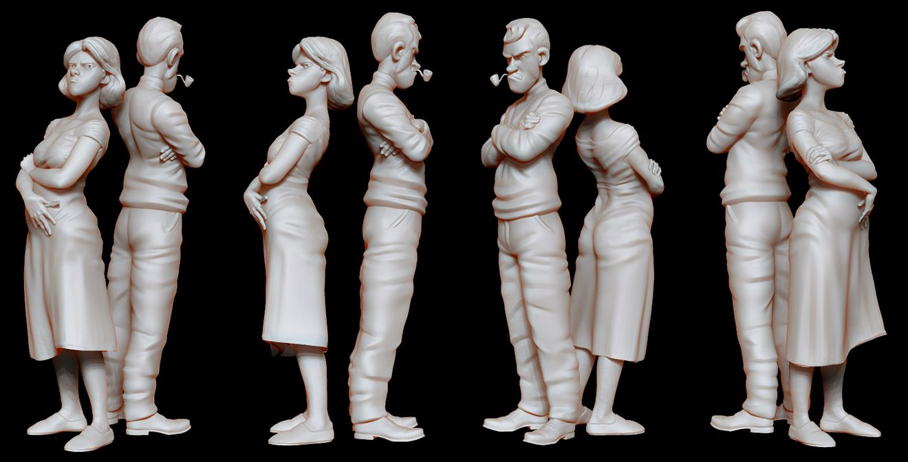 Quick character sculptures