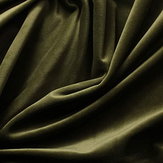 Antique Gold German Style Silky Velvet Home Fabric Textiles for Upholstery and Drapery 50 Colors Available Width = 60in