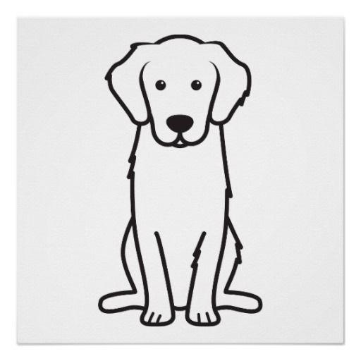Golden Retriever Dog Cartoon Poster Zazzle Com Cute Dog