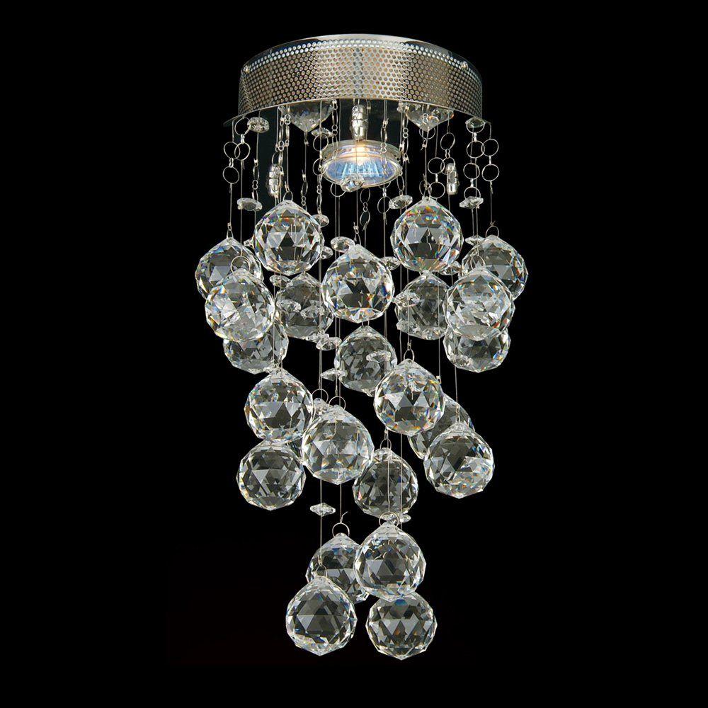 bethel international lx20 lx series 1 light crystal flush mount