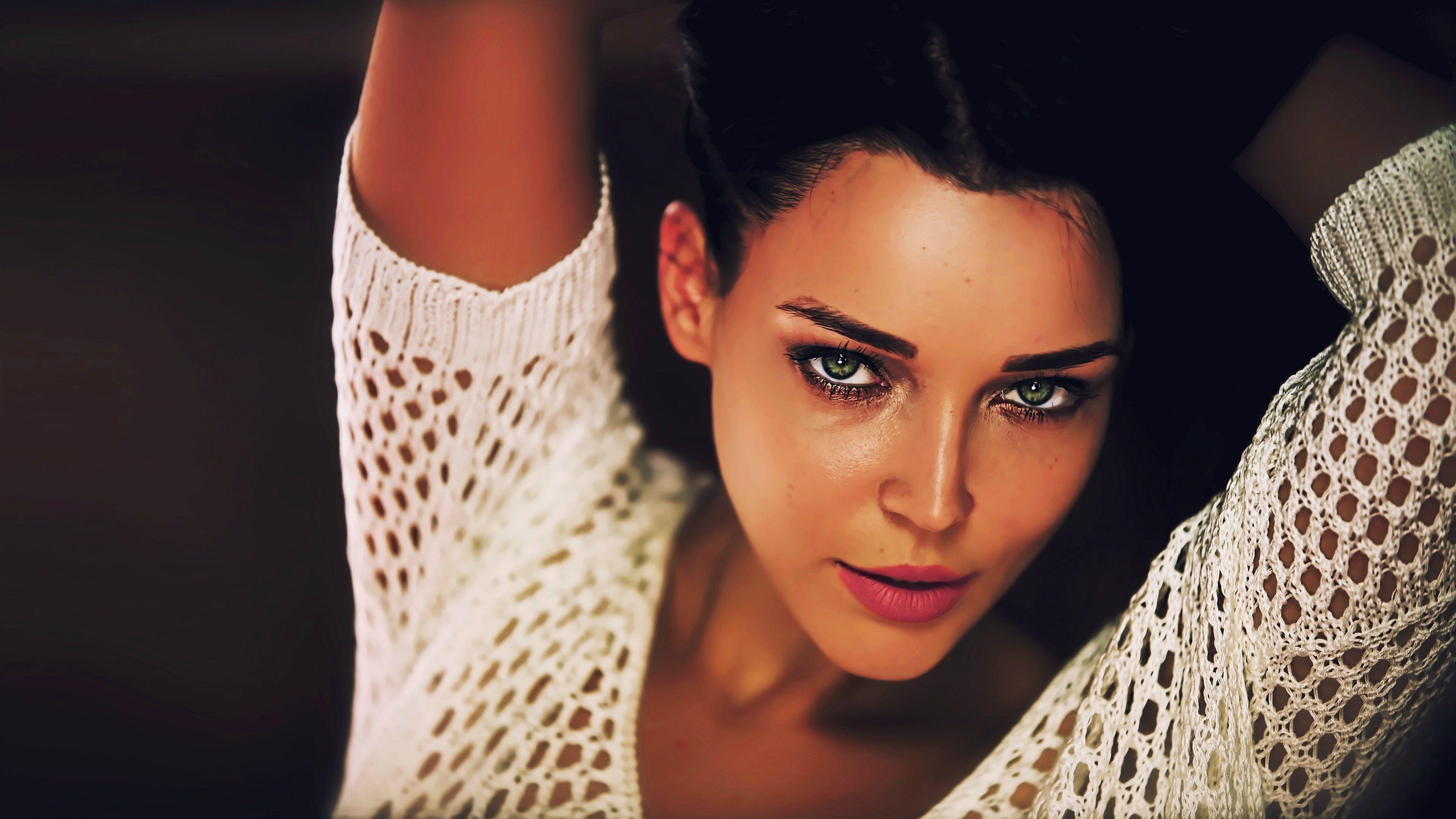 Angelina Petrova Wallpaper Desktop | Angelina, Hazel eyes