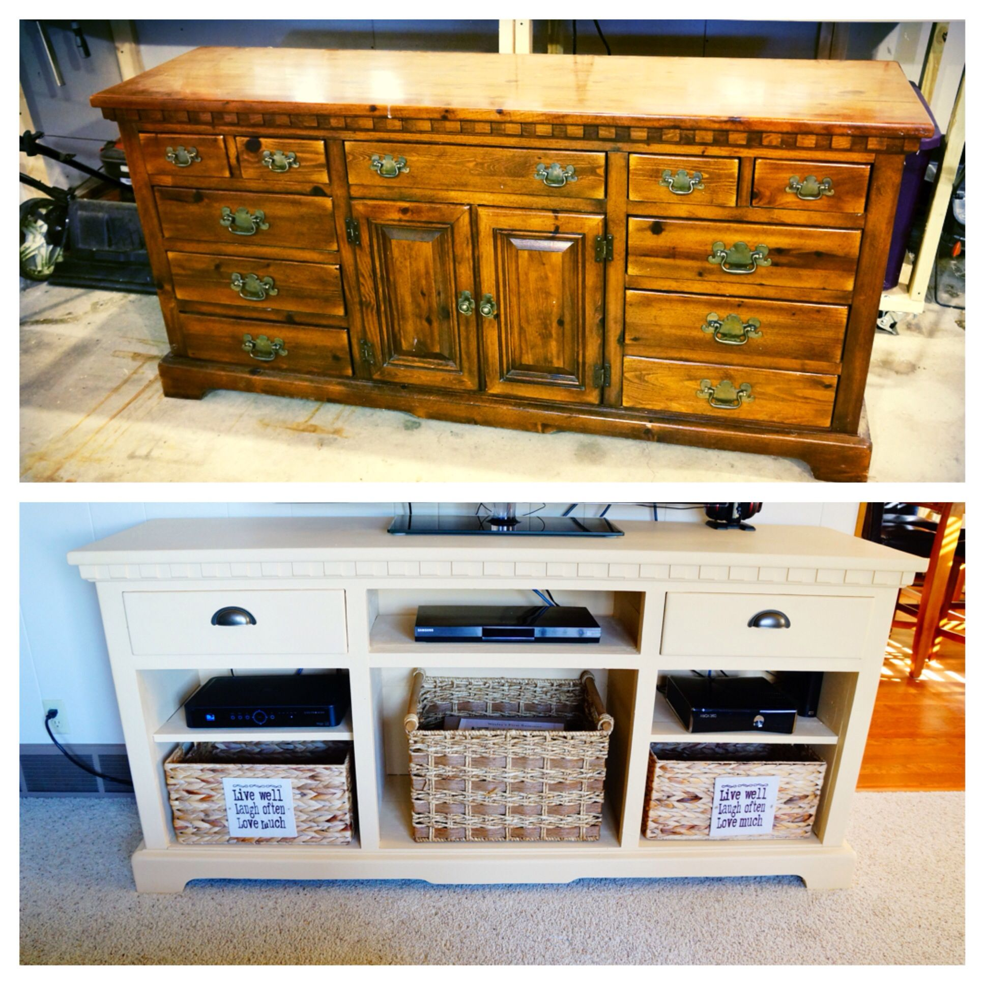 Dresser Into Tv Stand Home Pinterest Tv Stands