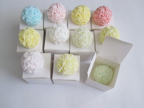 100 Rose Ball Soap Favors  Any occasion  Wedding by GoldFlower, $160.00