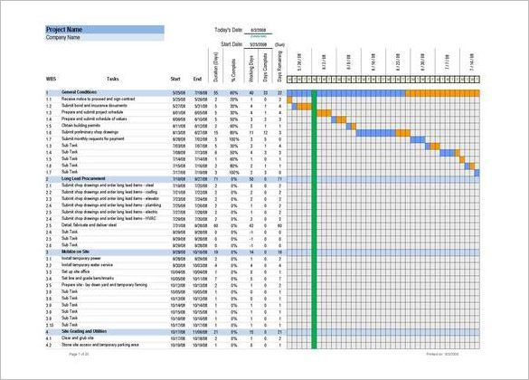 Construction Schedule Template Excel Free Download  HttpWww
