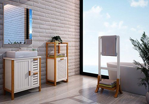 Badmöbel u0027Güterslohu0027 Badezimmer Waschunterschrank Bambus Bambus - badezimmer bambus