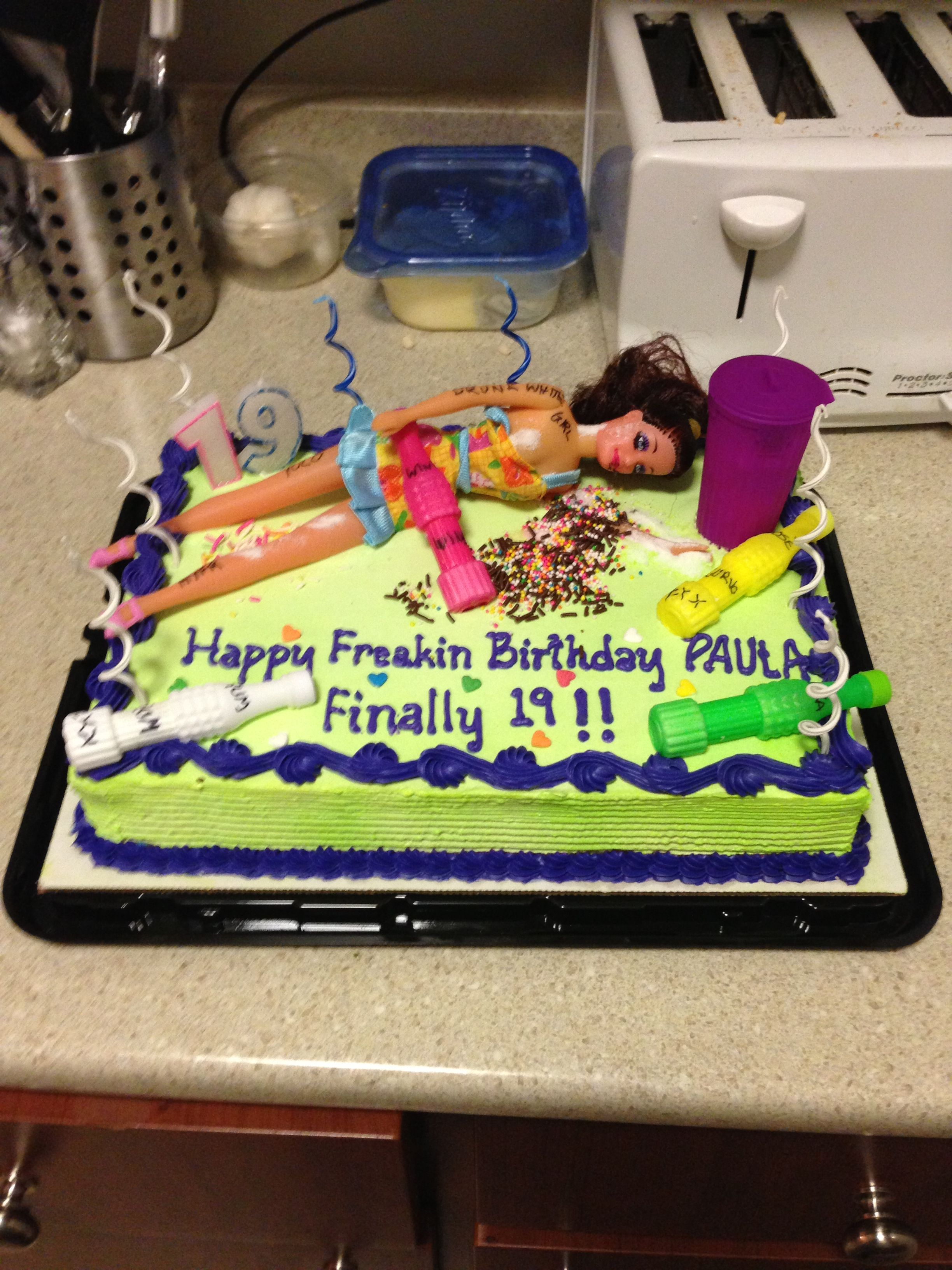 19th Birthday Cake For Paula Or Kris Lol Smiles Pinterest