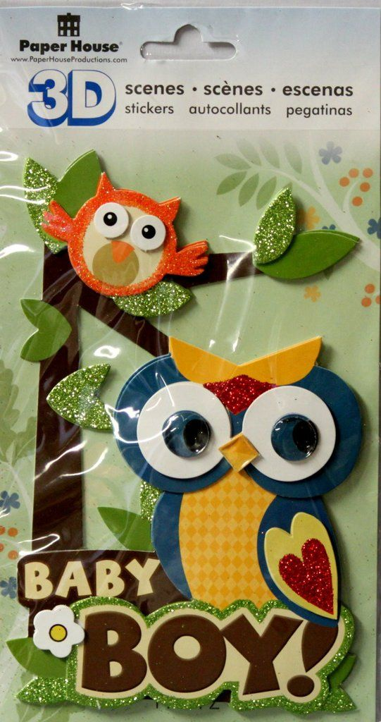 Paper House Baby Boy 3d Dimensional Stickers Are Available At