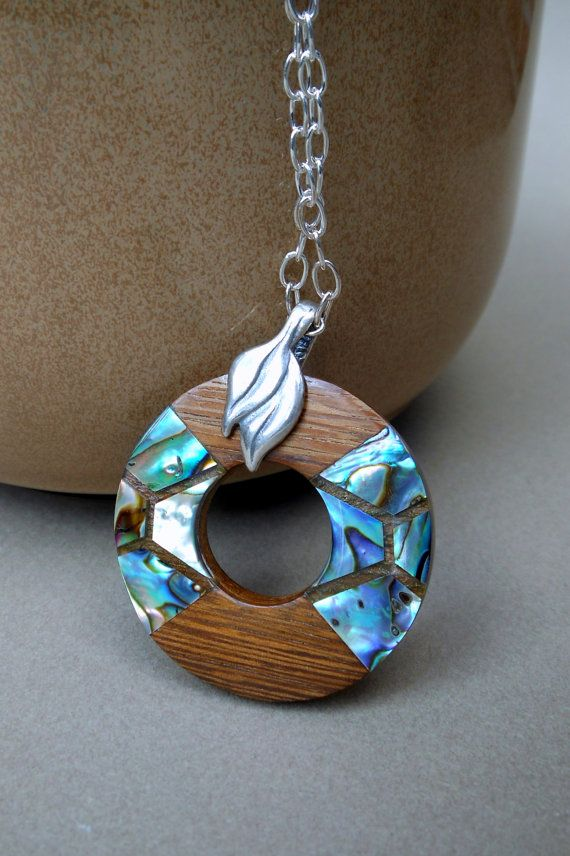 Abalone inlay wood pendant necklace on by accidentalworkshop abalone inlay wood pendant necklace on by accidentalworkshop 2500 mozeypictures Images