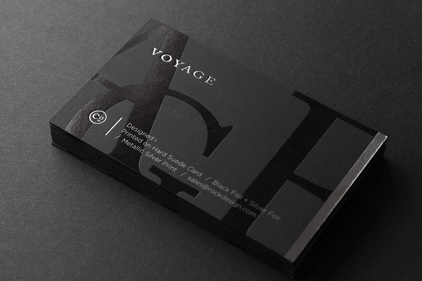 hot foil business card color: white, black, silver https://www.bce ...