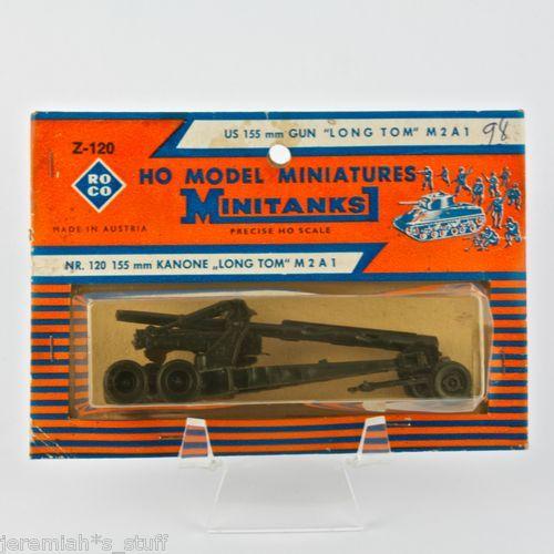 "ROCO HO Model Miniatures Minitanks Z-120 US 155 mm Gun 'Long Tom"" M2A1 - Rare"