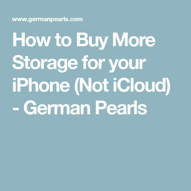 How To Buy More Storage For Your Iphone Not Icloud Iphone Icloud Sandisk Ixpand