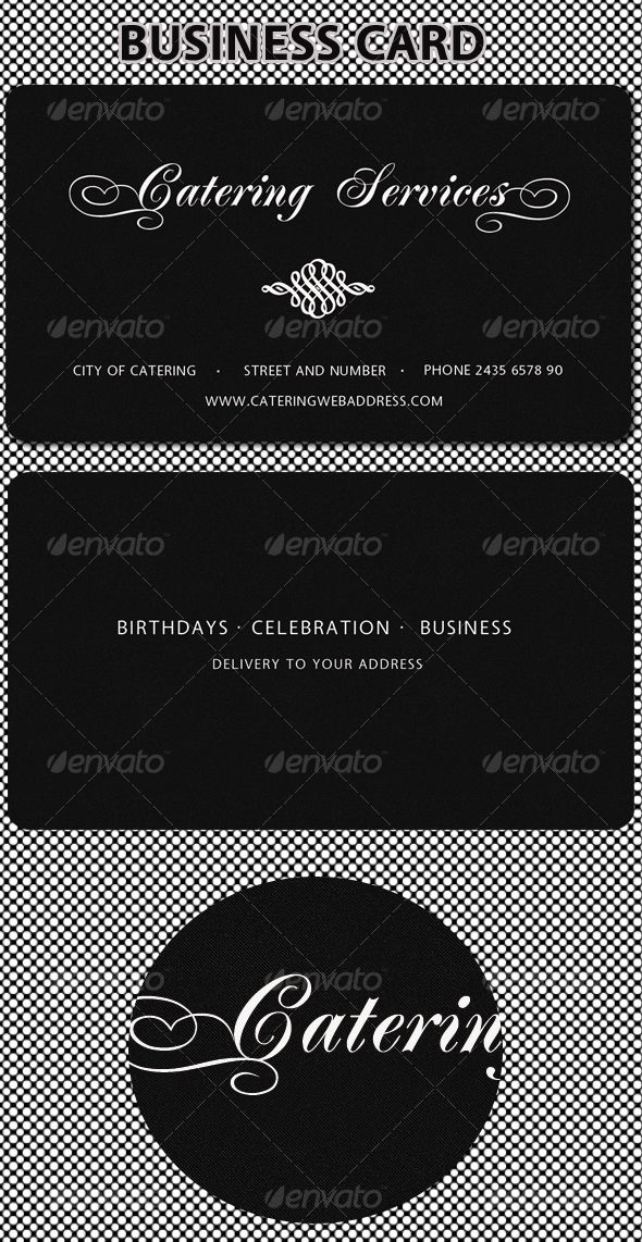 Catering Services Business Card | Catering, Business cards and Business