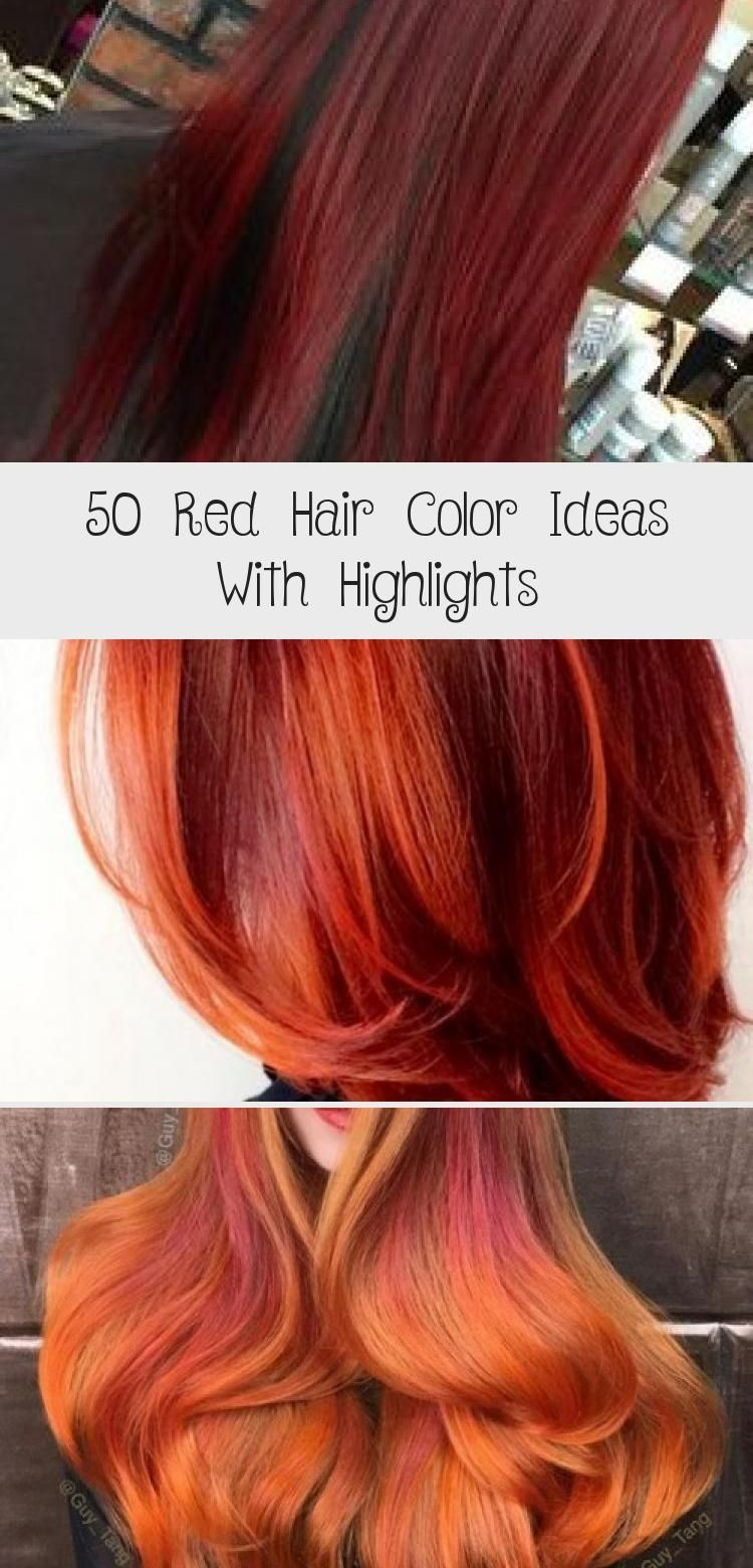 9 Red Hair Color Ideas With Highlights, color hair Highlights ...