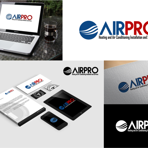 Air Pro Air Conditioning Bussiness Logo Heating And Air
