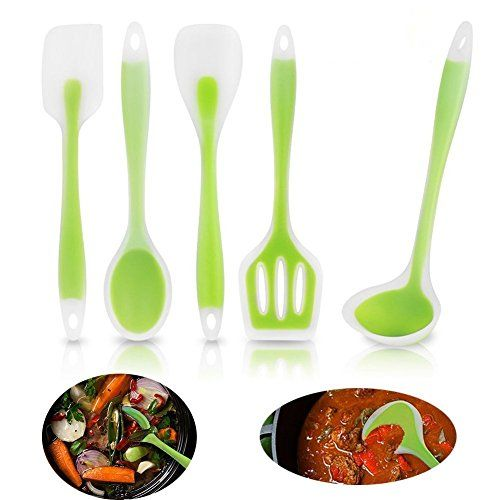 FDA Approved 5pcs Silicone Kitchen Utensils Nonstick the Baking ...