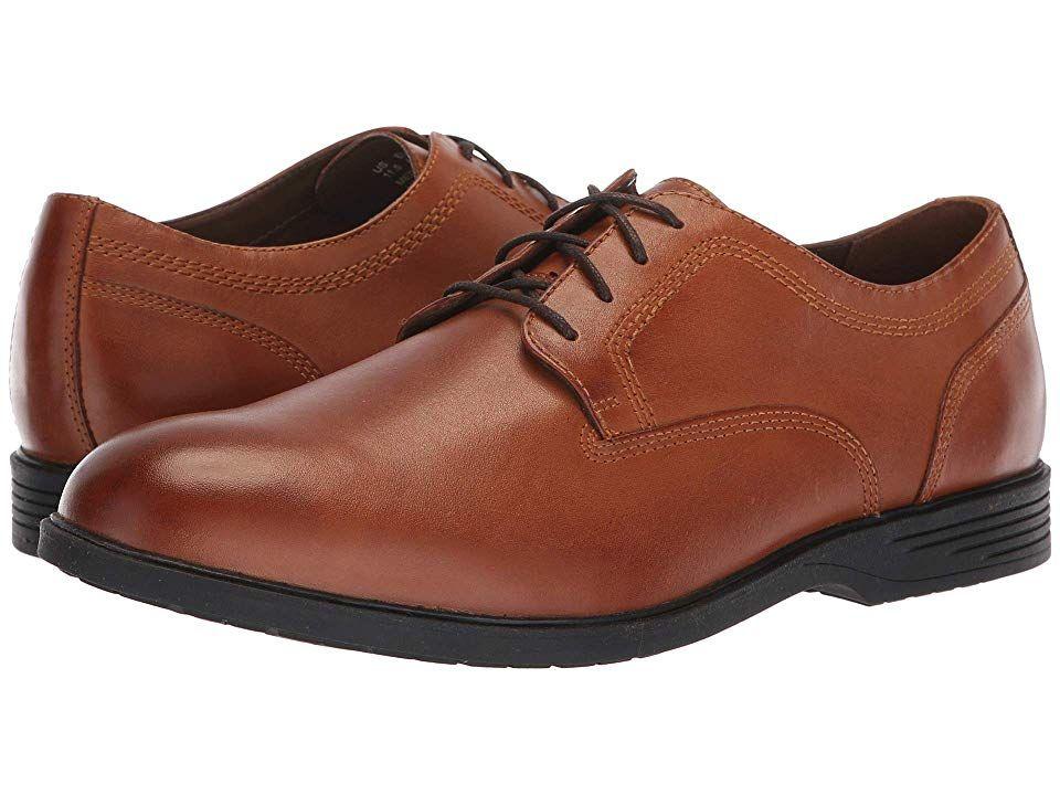 Hush Puppies Shepsky Plain Toe Oxford Men's Shoes Dark Tan