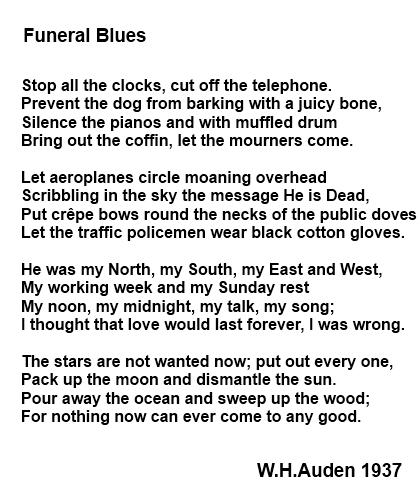 Stop all the clocks elegy