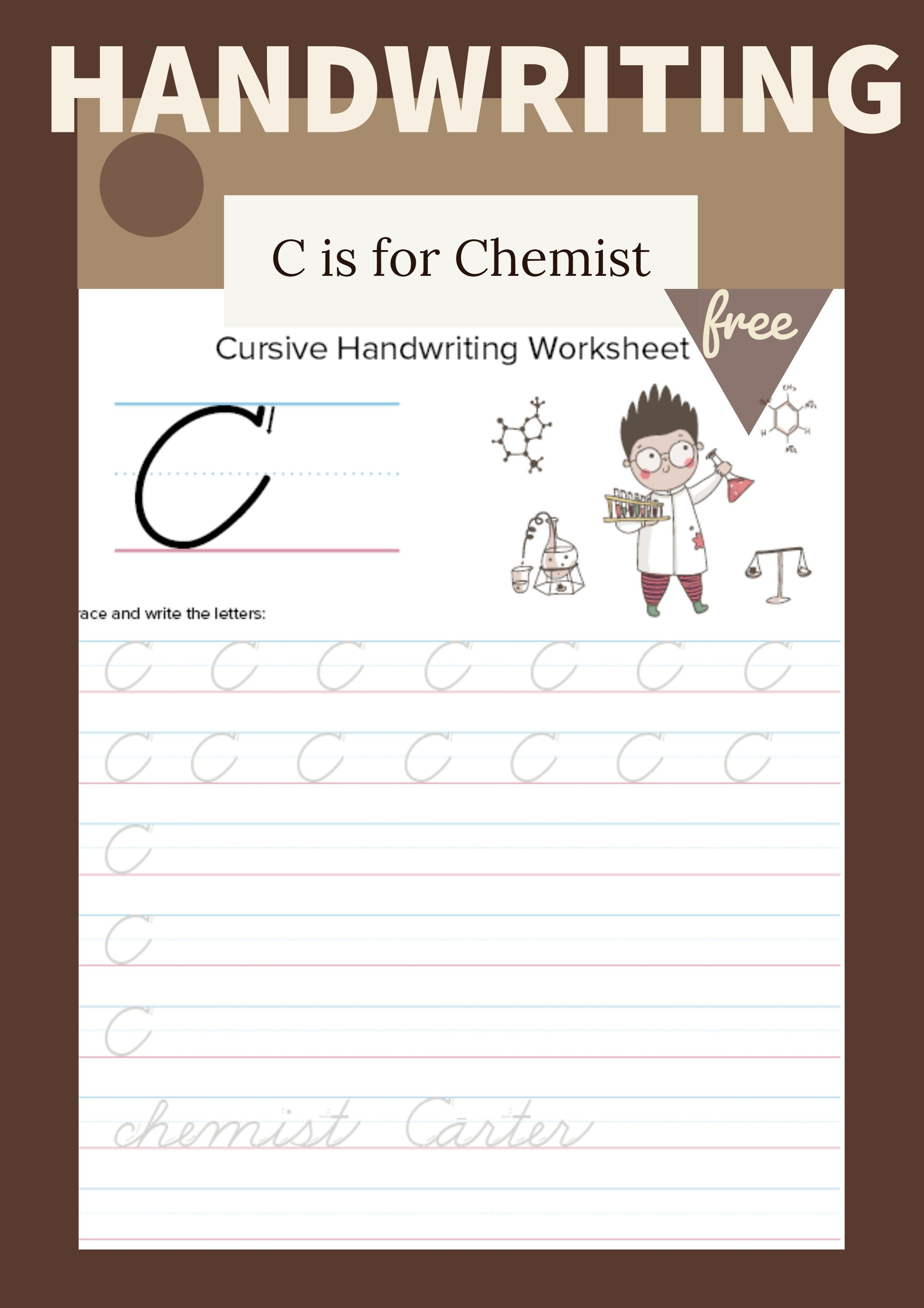 Cursive Uppercase C Worksheet