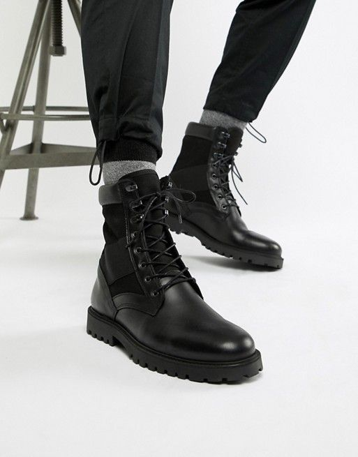 Zign military boots in black   ASOS is part of Military boots - Shop Zign military boots in black at ASOS  Discover fashion online