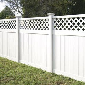 Veranda Yellowstone 6 Ft X 8 Ft White Vinyl Lattice Top Fence Panel Kit 73006453 The Home Depot Fence With Lattice Top Fence Panels Lattice Fence Panels