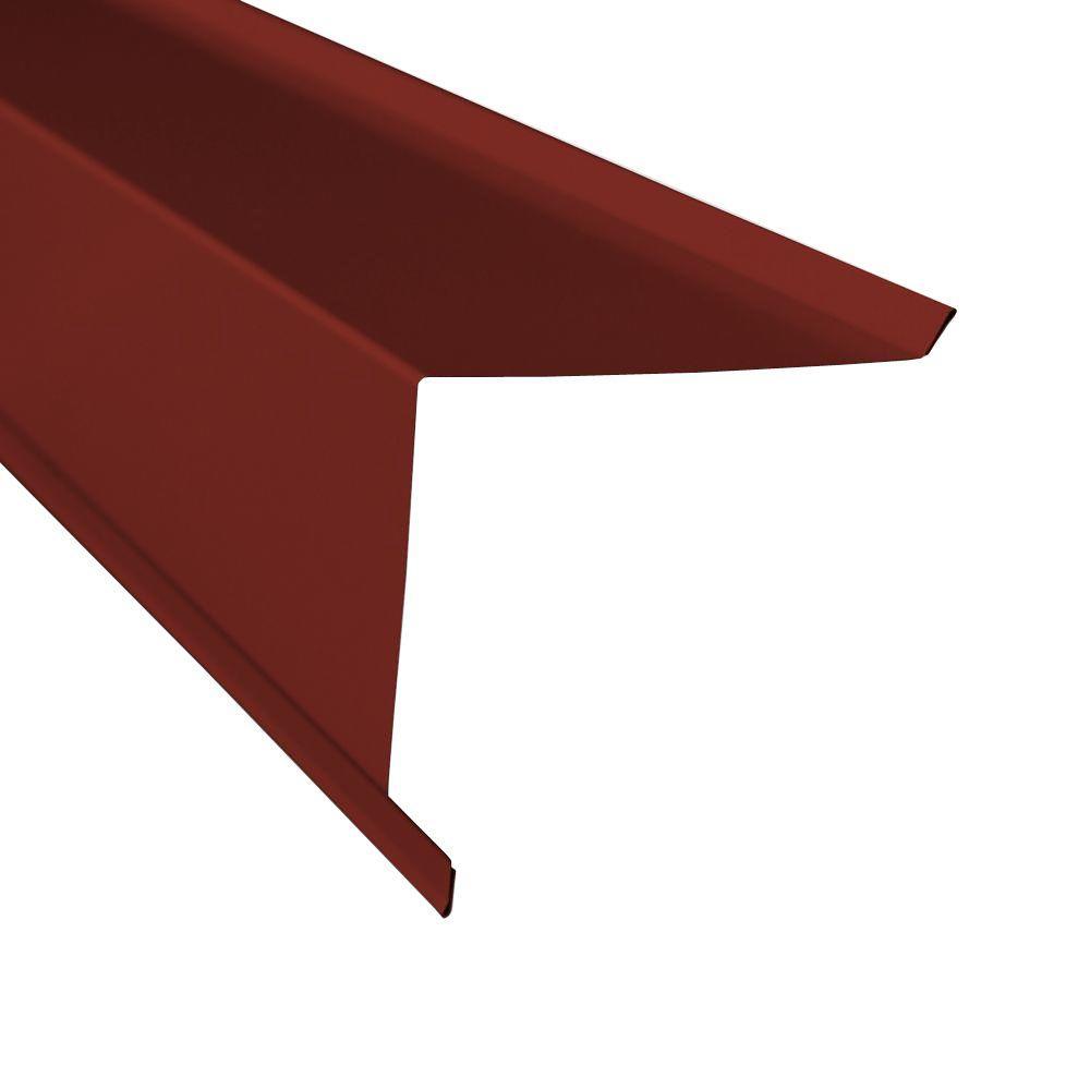 Metal Sales Gable Trim In Red 4206024 Gable Trim Roof Panels Metal Trim