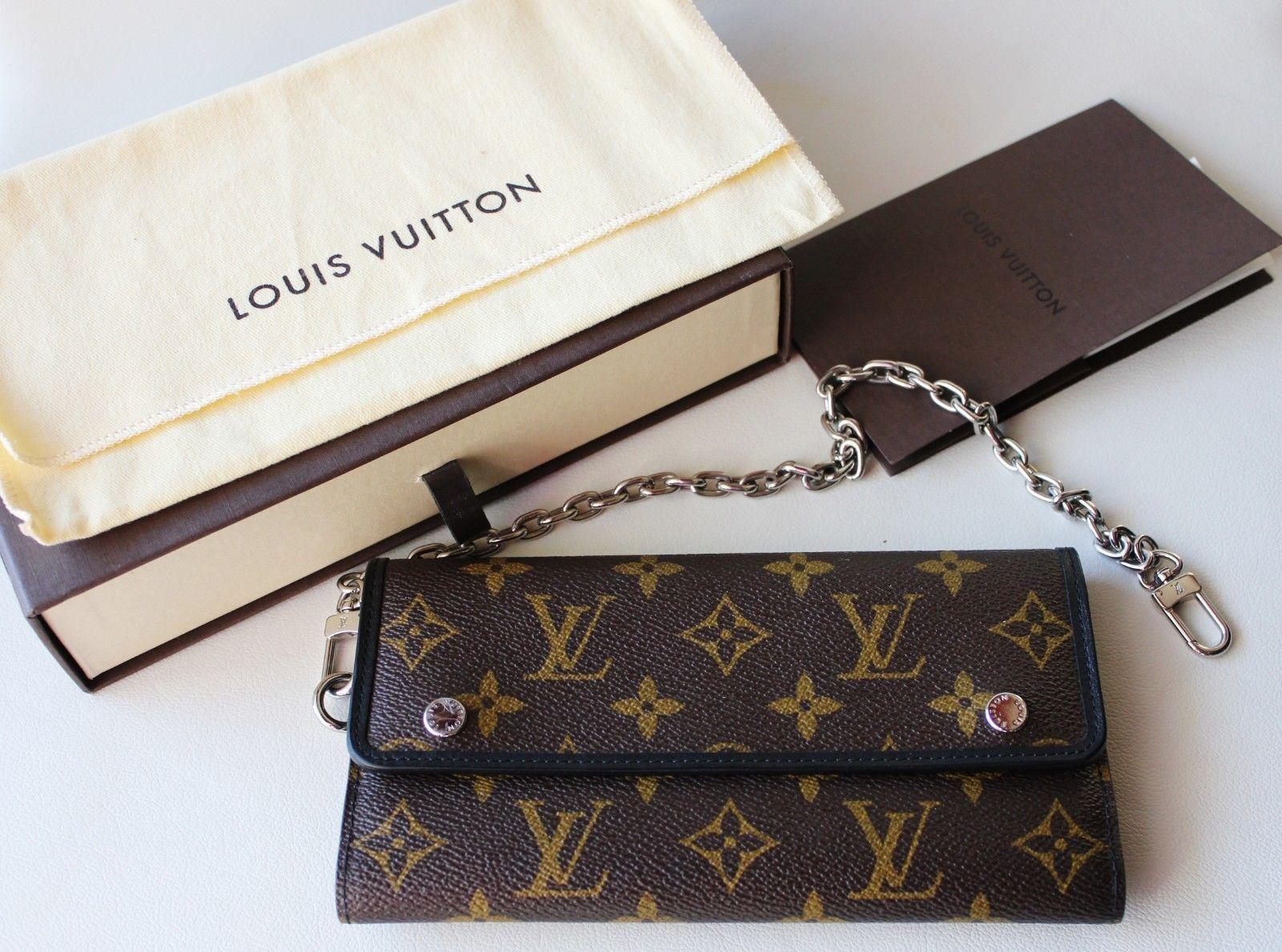 Louis Vuitton Wallet (Men\'s Pre-owned Monogram Macassar Chain LV ...