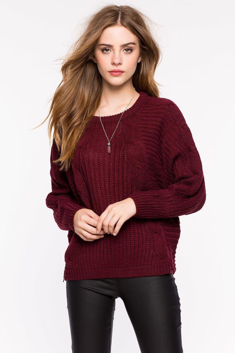 A'GACI | Cable Knit Dolman Pullovers | #agaci