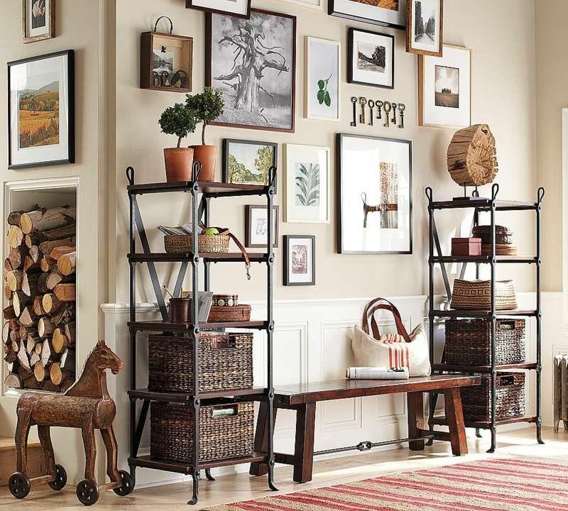 bilderrahmen collage regale sitzbank tropisch stil dekorationen ...