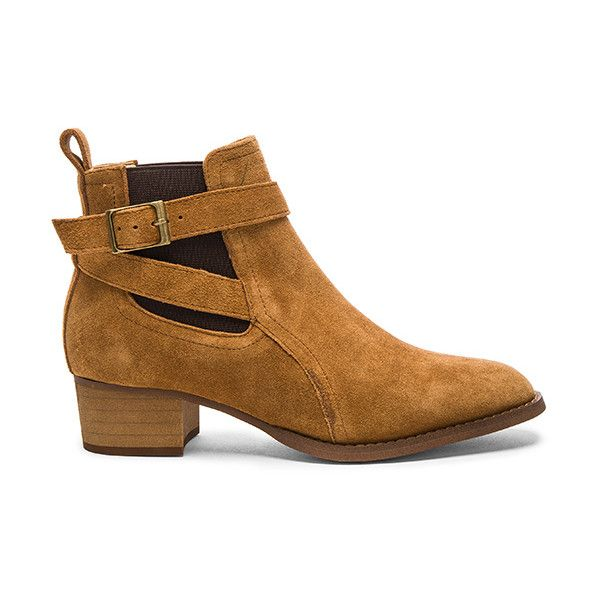 Tony Bianco Rigby Bootie (£130) ❤ liked on Polyvore featuring shoes, boots, ankle booties, booties, elastic ankle boots, slip on rubber boots, rubber ankle boots, slip on boots and slip on ankle boots
