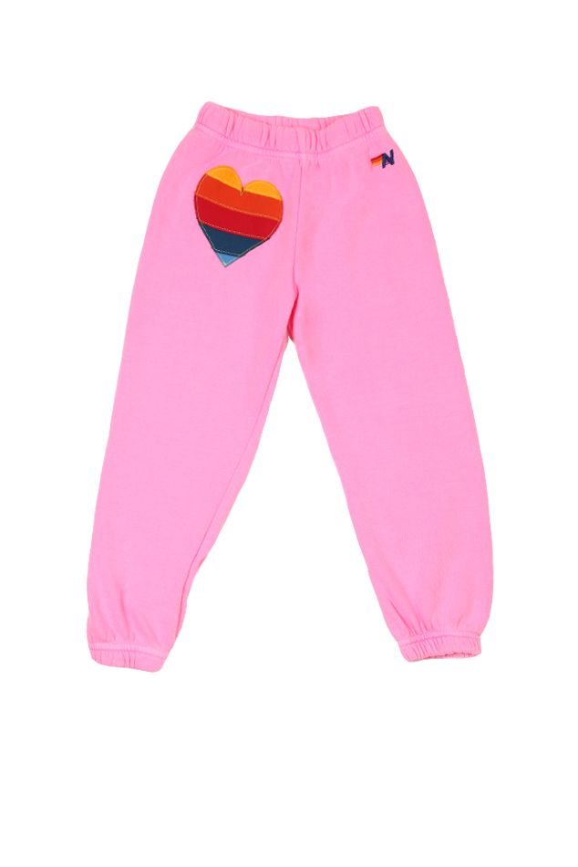 Aviator Nation Kids Kids Neon Heart Sweatpants