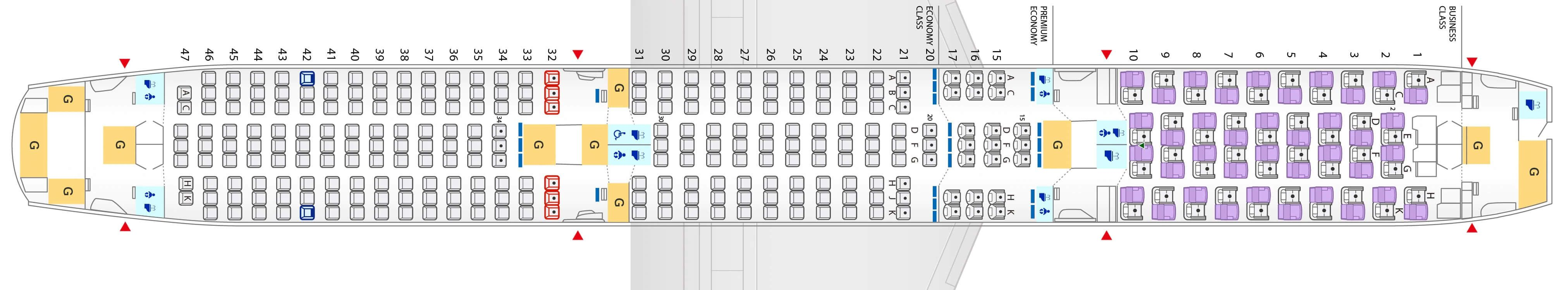 Seat Map And Seating Chart Ana Boeing 787 10 Dreamliner Boeing 787 Boeing Fleet