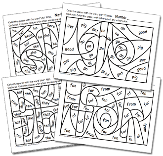 hidden sight word worksheets to support sing spell vol 1 heidi songs - Free Color Word Worksheets