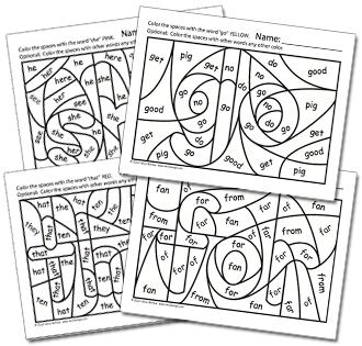 Kindergarten Math and Literacy Printables February