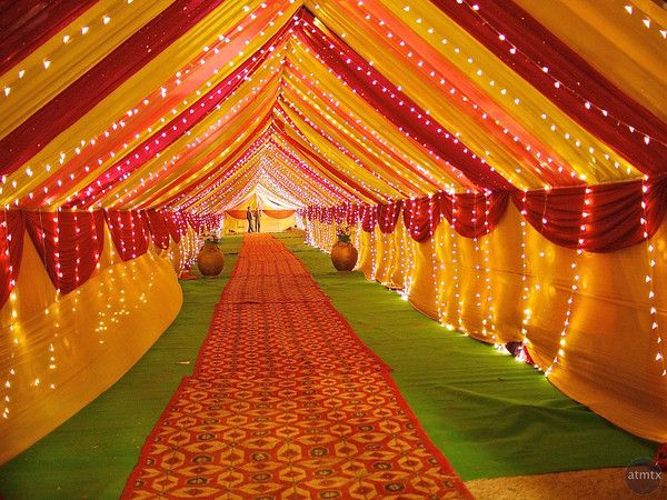 Wedding Tent Entrance , Delhi, India