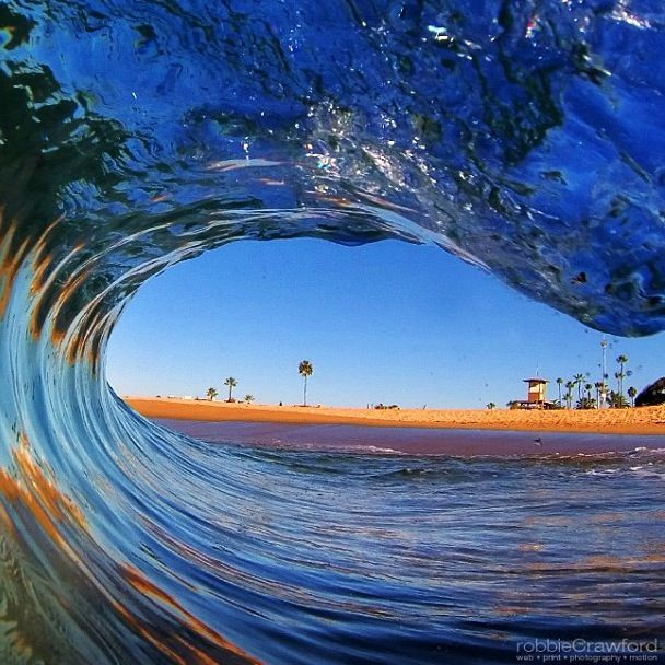 Looking clear through this sick #barrel! #Gnarly #Surf #SurfLife