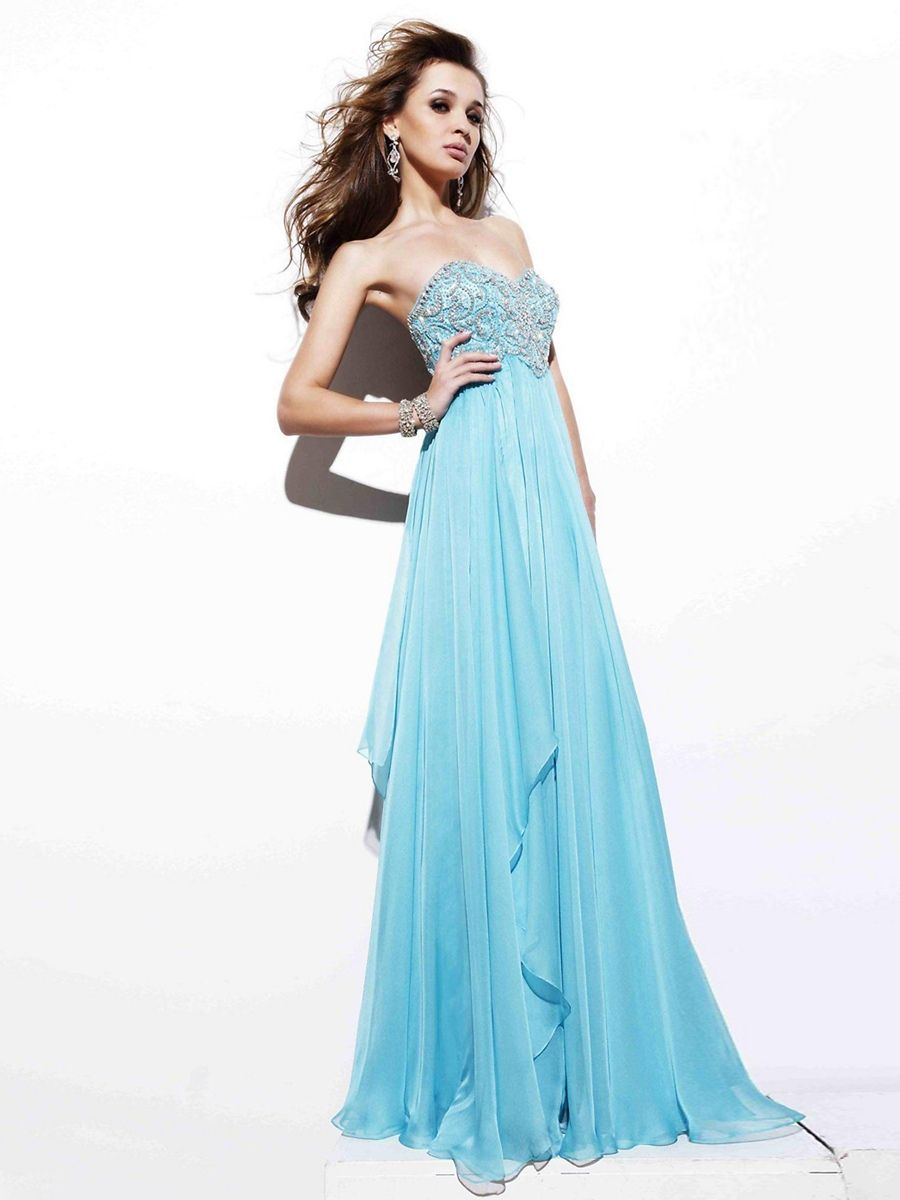 Ice blue wedding dress ice blue strapless sweetheart for Ice blue wedding dress