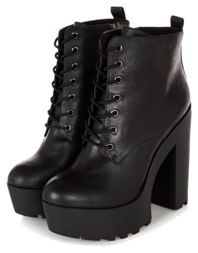 Details about  /Custom-made Womens Platform Lace Up Square Chunky Block High Heel Ankle Boots Sz